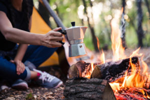 how to make coffee while camping fire