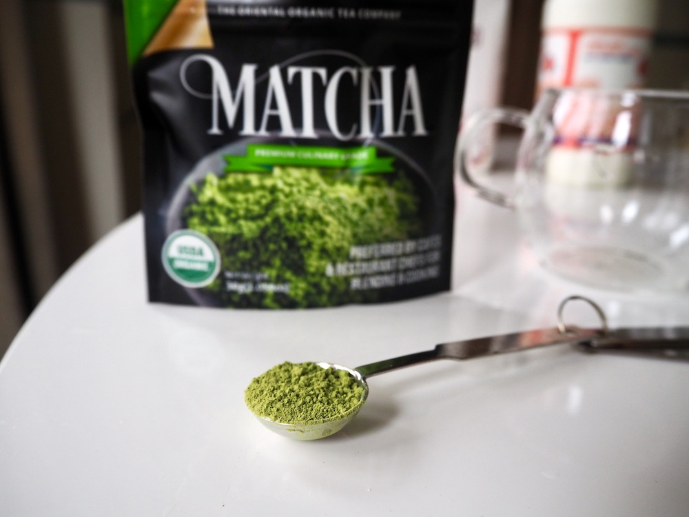 Matcha latte ingredients