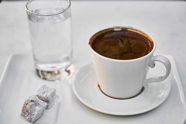 coffee with water