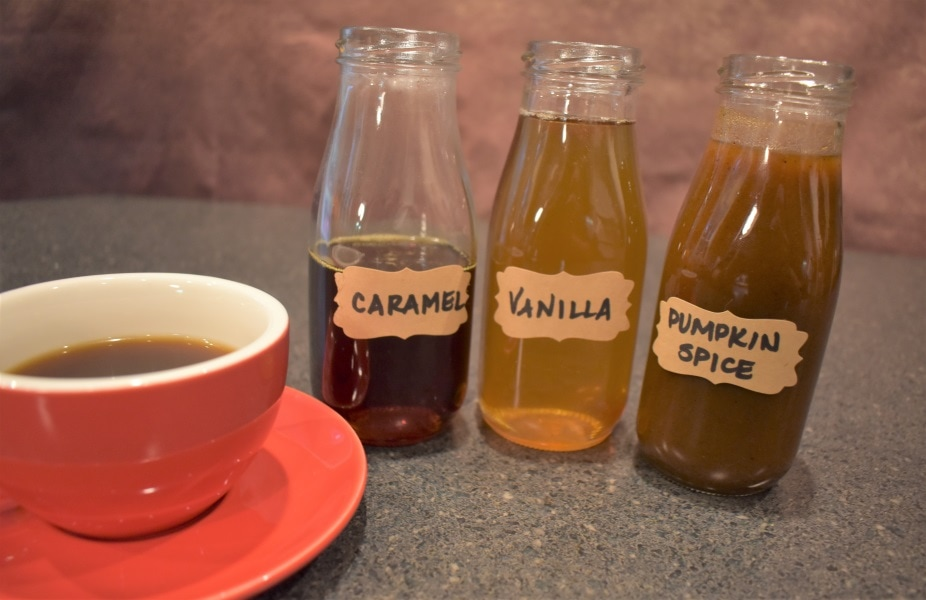 All finished coffee syrups