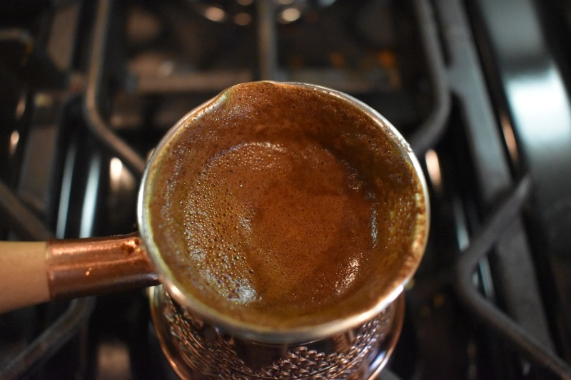 Almost finished greek coffee