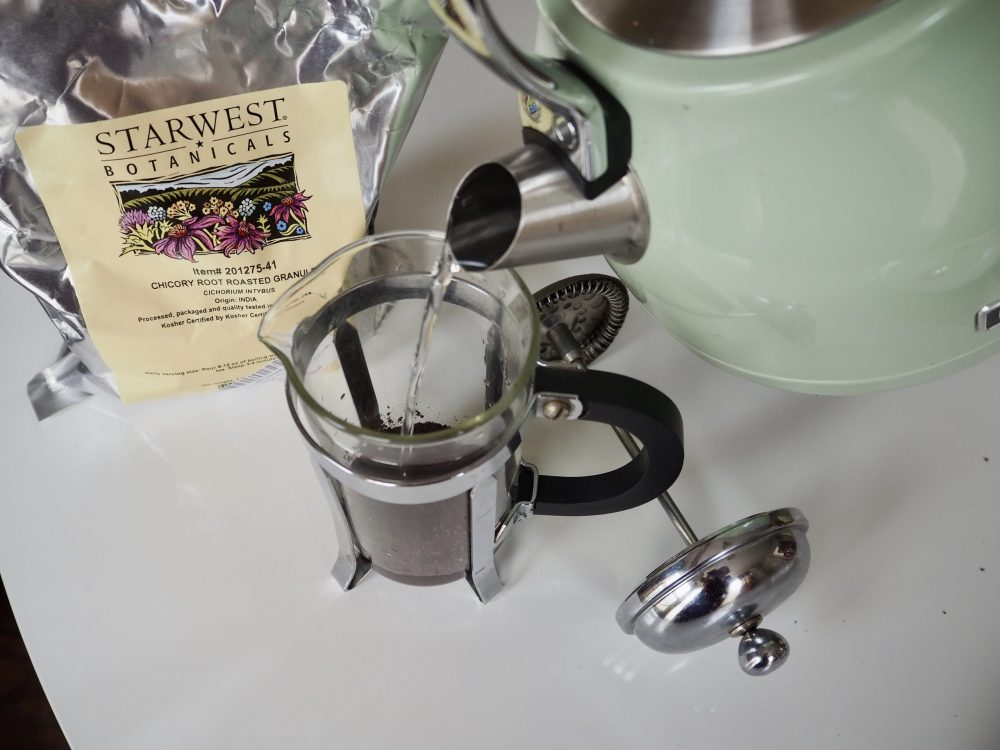 Add boiling water to the French press