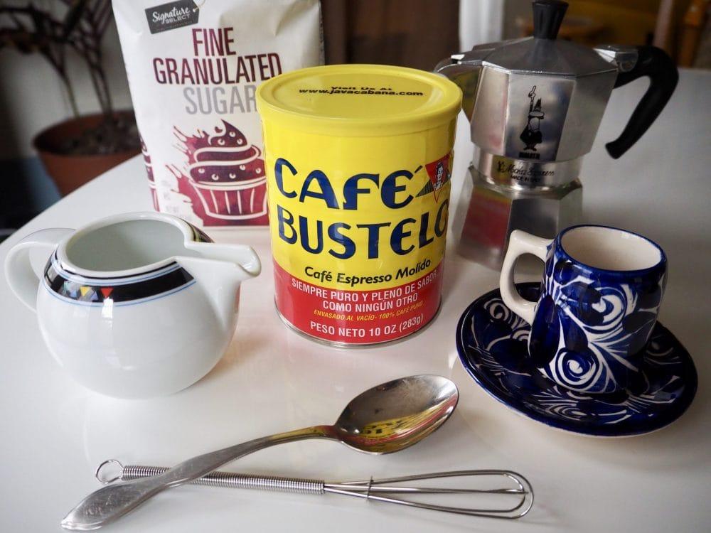 Café Cubano ingredients