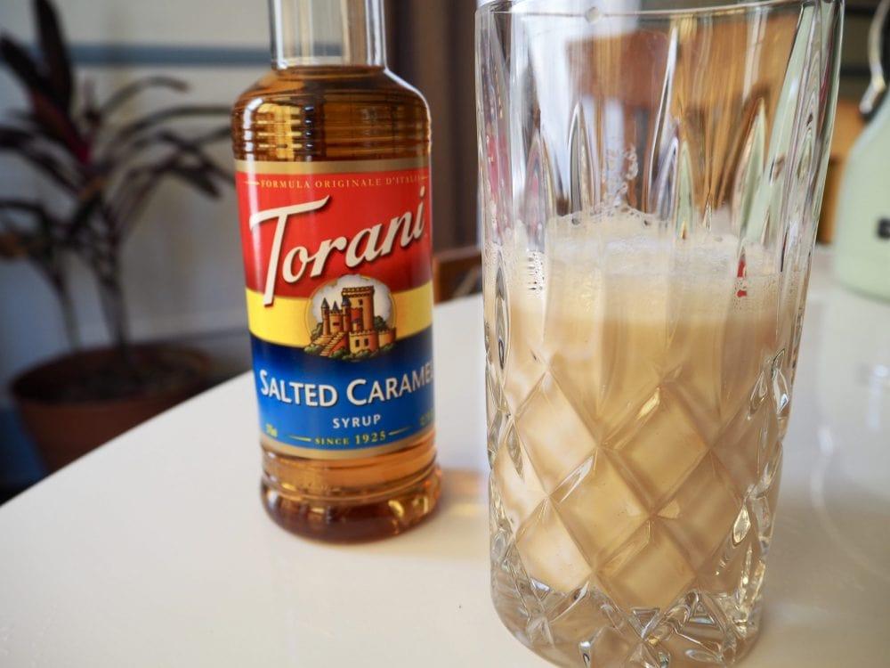 Caramel latte foam