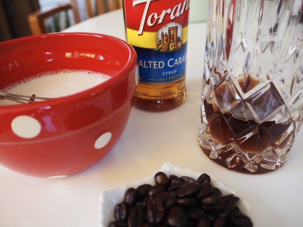 Caramel latte process