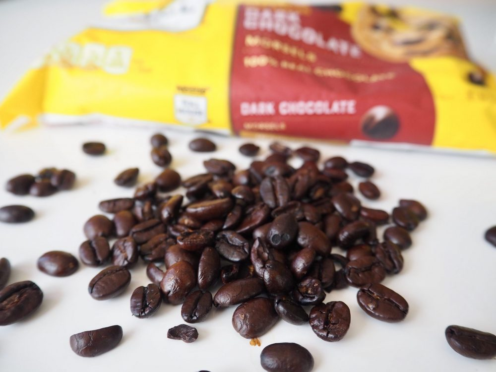 Chocolate-covered espresso bean ingredients