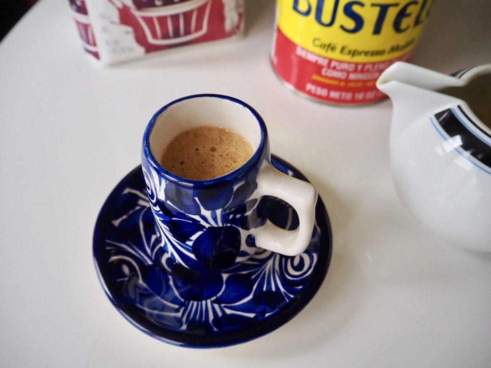 Combine and serve your Café Cubano