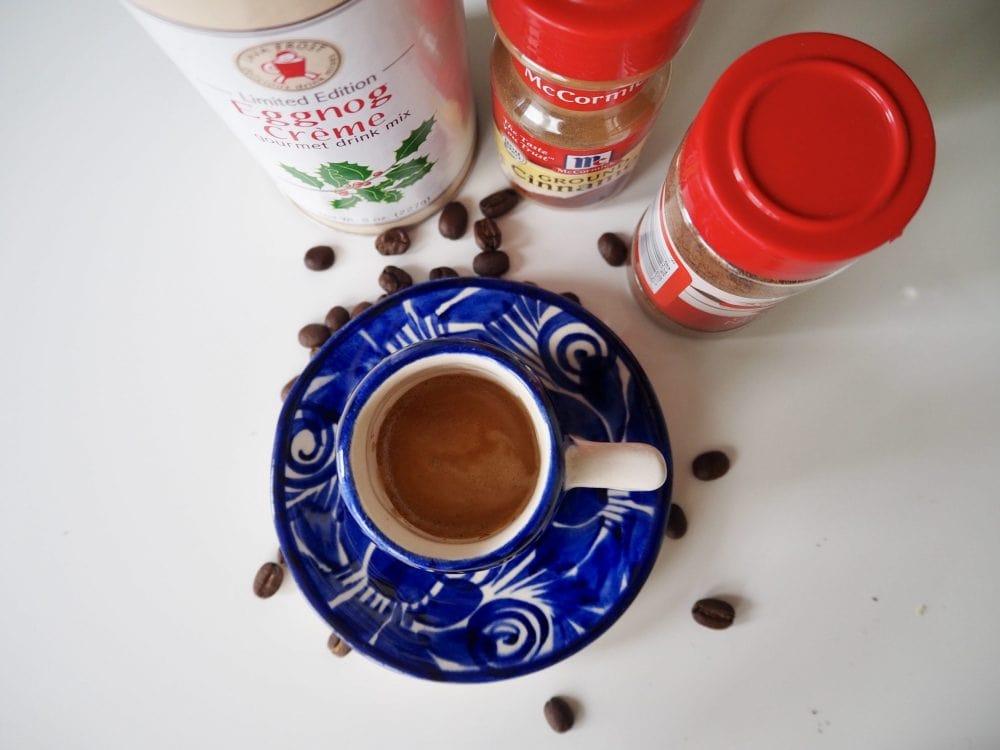 Eggnog latte ingredients