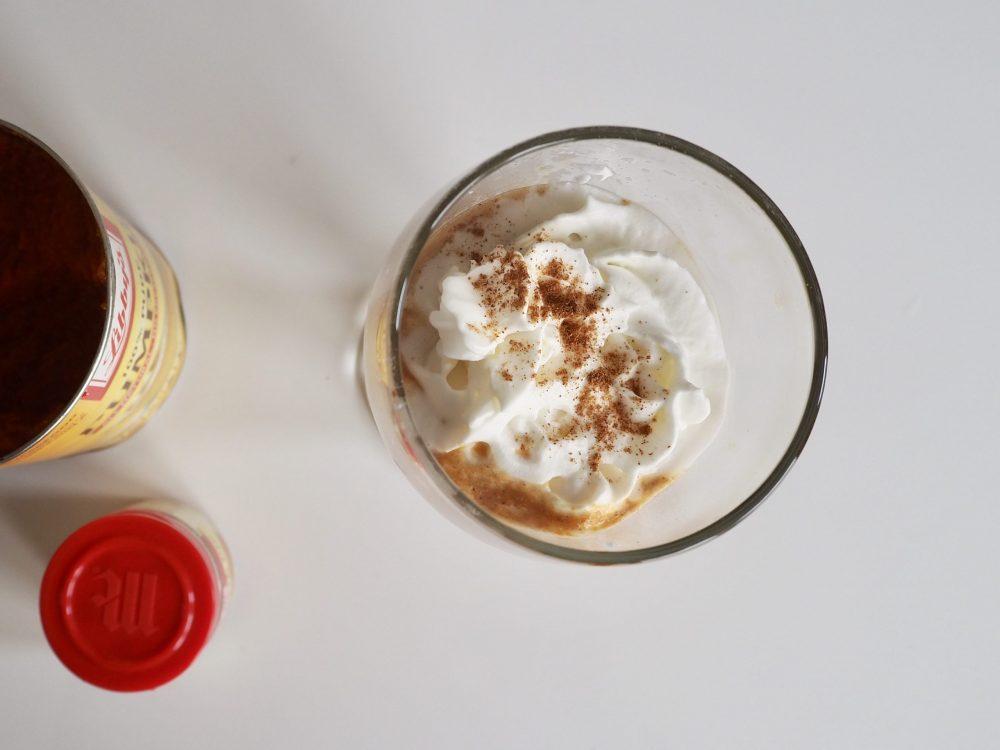 Finished pumpkin spice latte