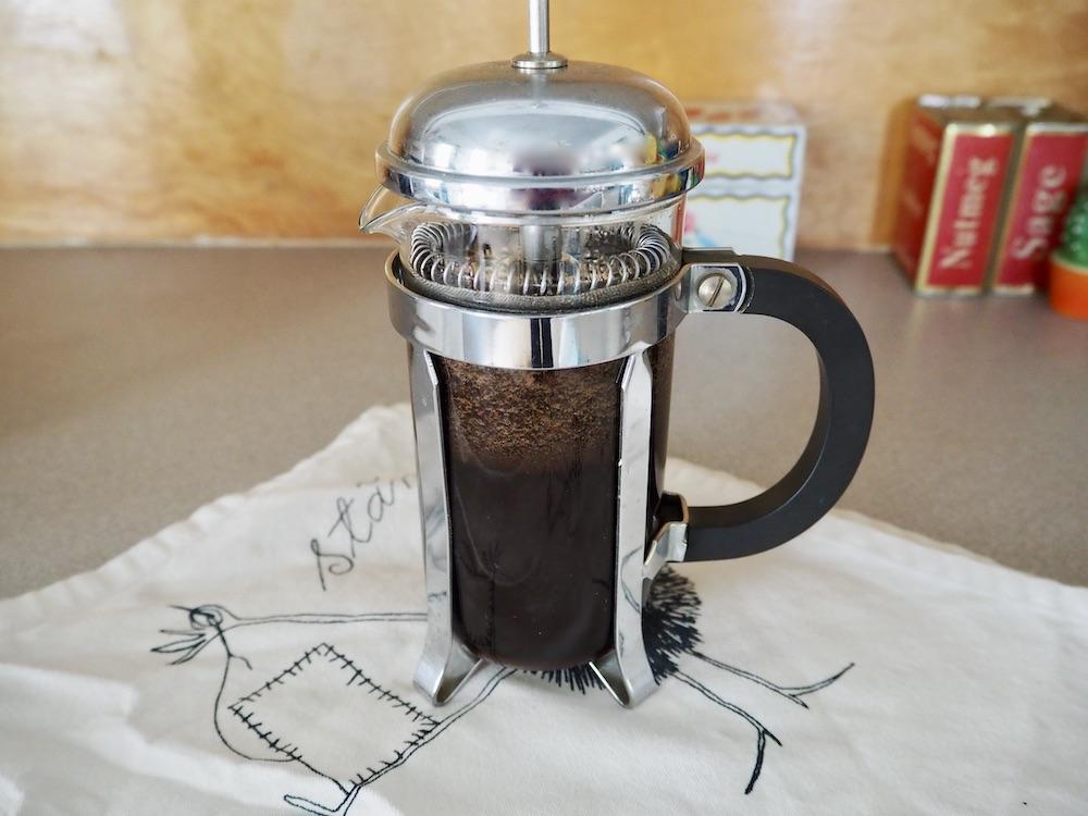 French press espresso brewing