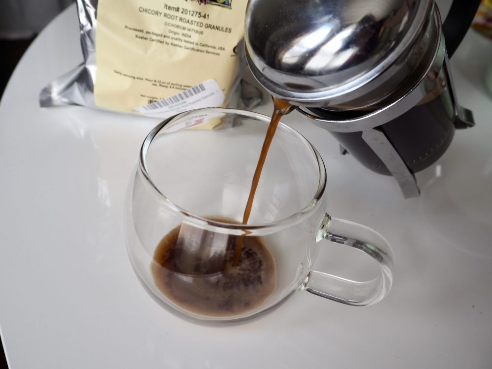 Serve your chicory coffee