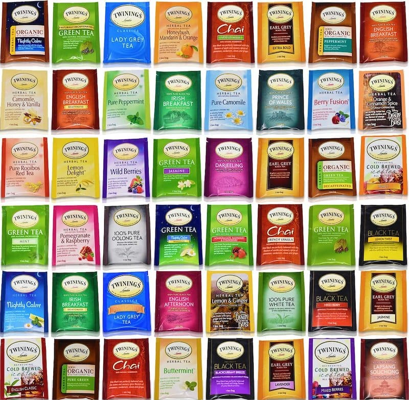 Twinings tea bag sampler