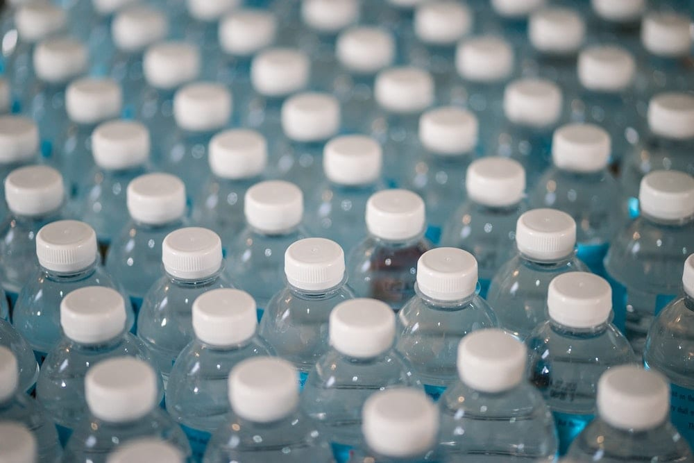 bottled water for coffee