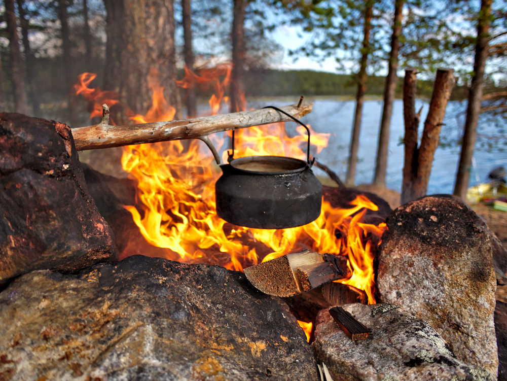 cowboy coffee on the campfire