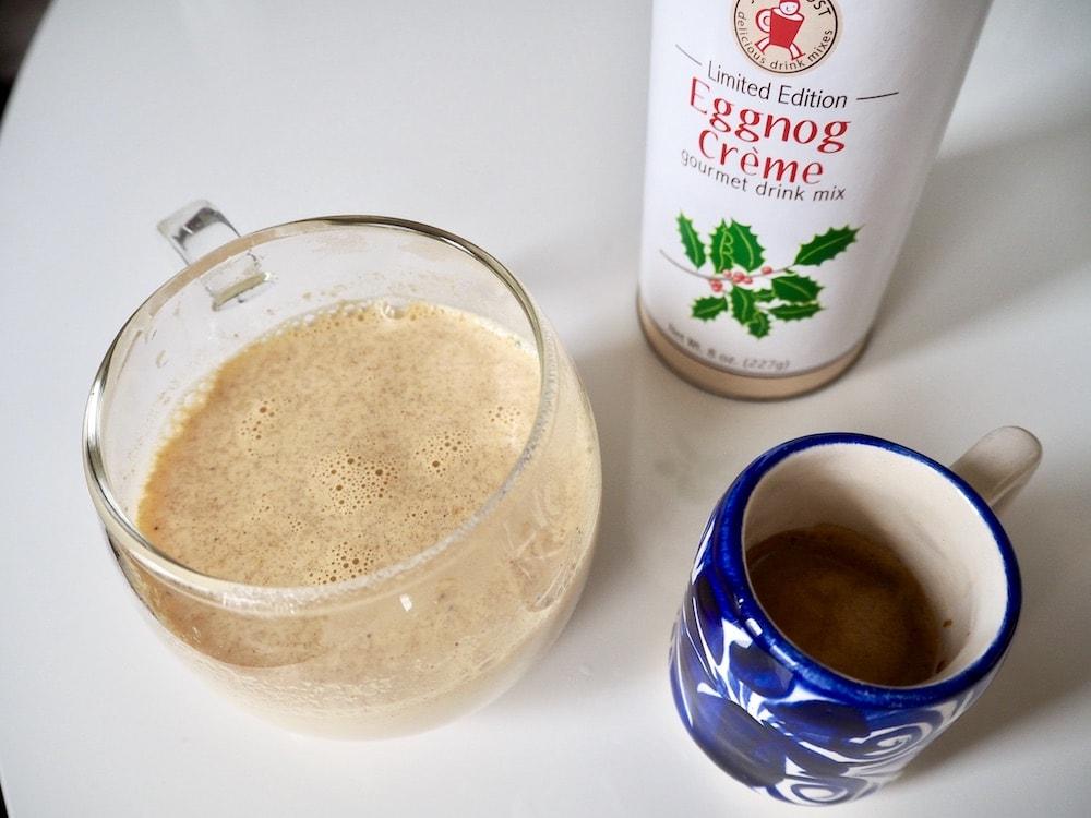 eggnog and espresso latte
