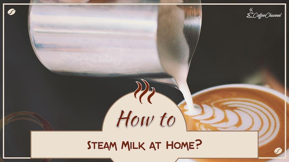 steam milk at home
