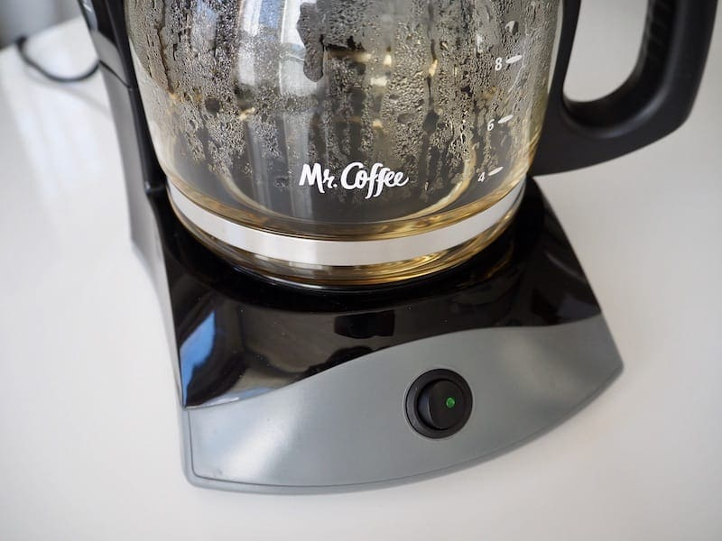 Brew Mr. Coffee with water to clean