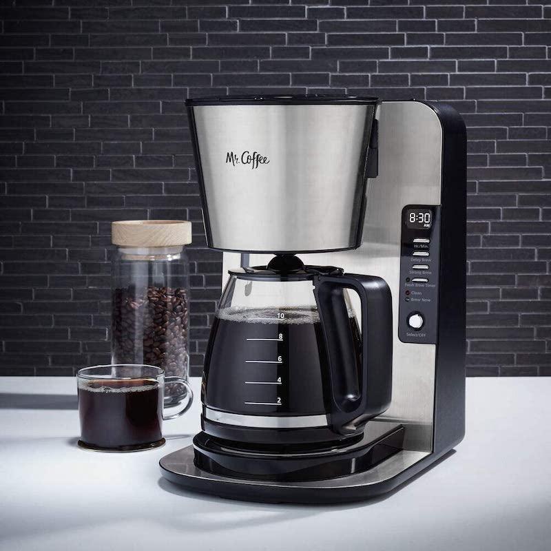 Mr. Coffee clean light stays on