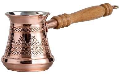 CopperBull Premier Engraved Turkish Coffee Pot