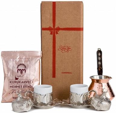 CopperBull Turkish Coffee Set