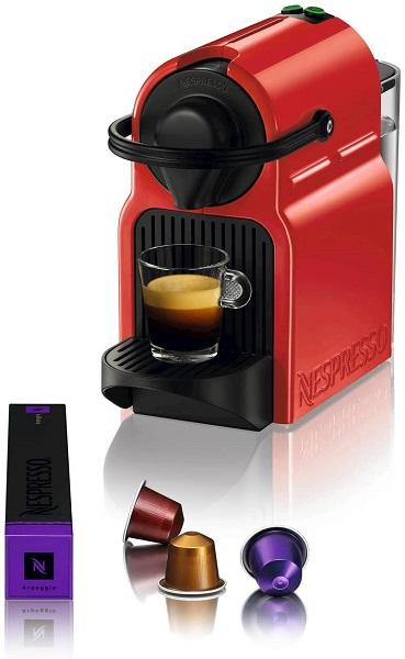 Nespresso Inissia red with capsule
