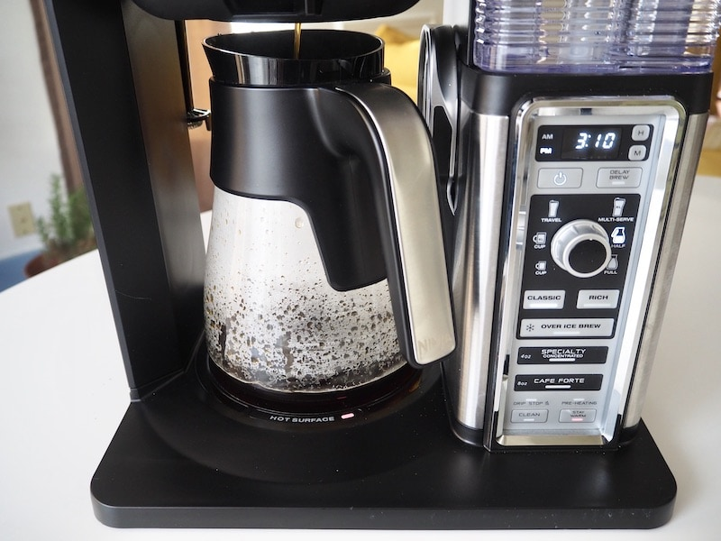 Ninja Coffee Bar brewing