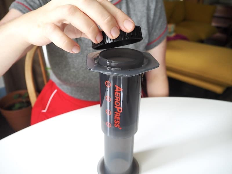 Upside down AeroPress brewing