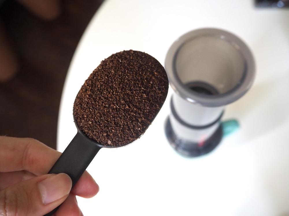 AeroPress Go coffee scoop