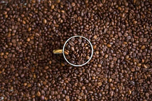 Coffee with beans