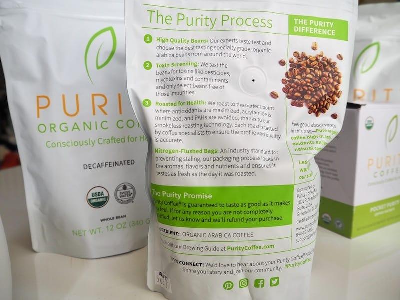 Purity Coffee bag label