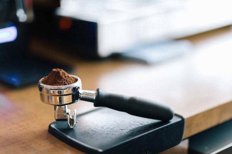 espresso portafilter ground coffee
