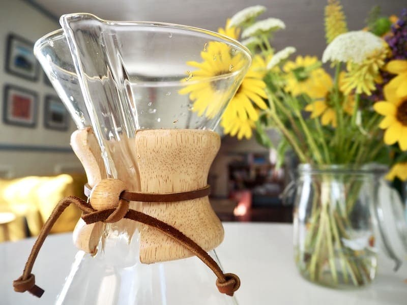 Chemex brewer on table