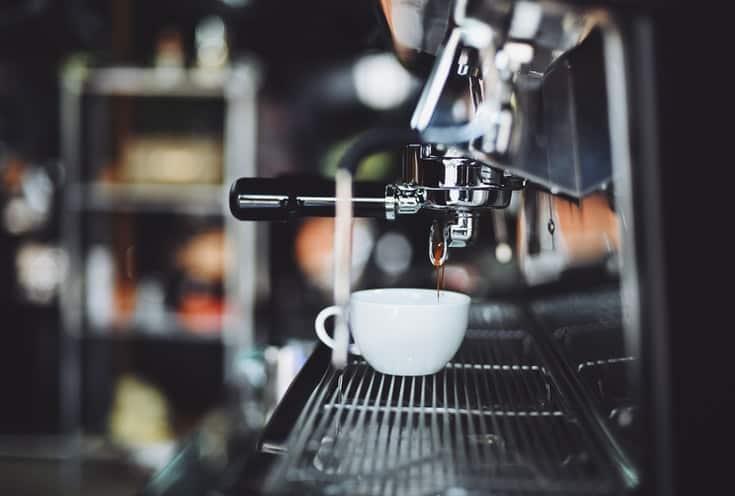 Espresso machine sideview