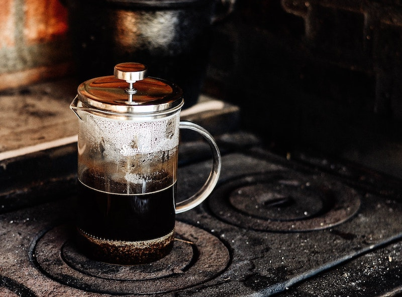 French Press on stove