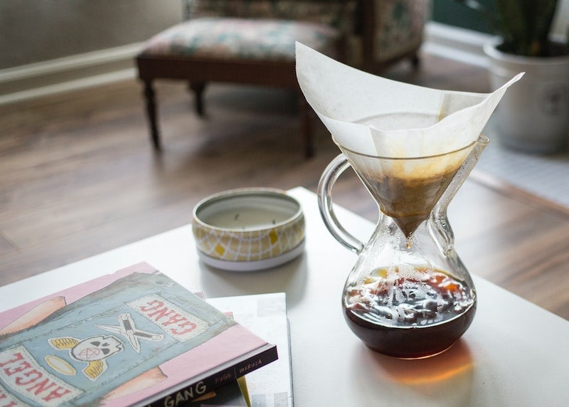 Glass handle Chemex brewing paper filter
