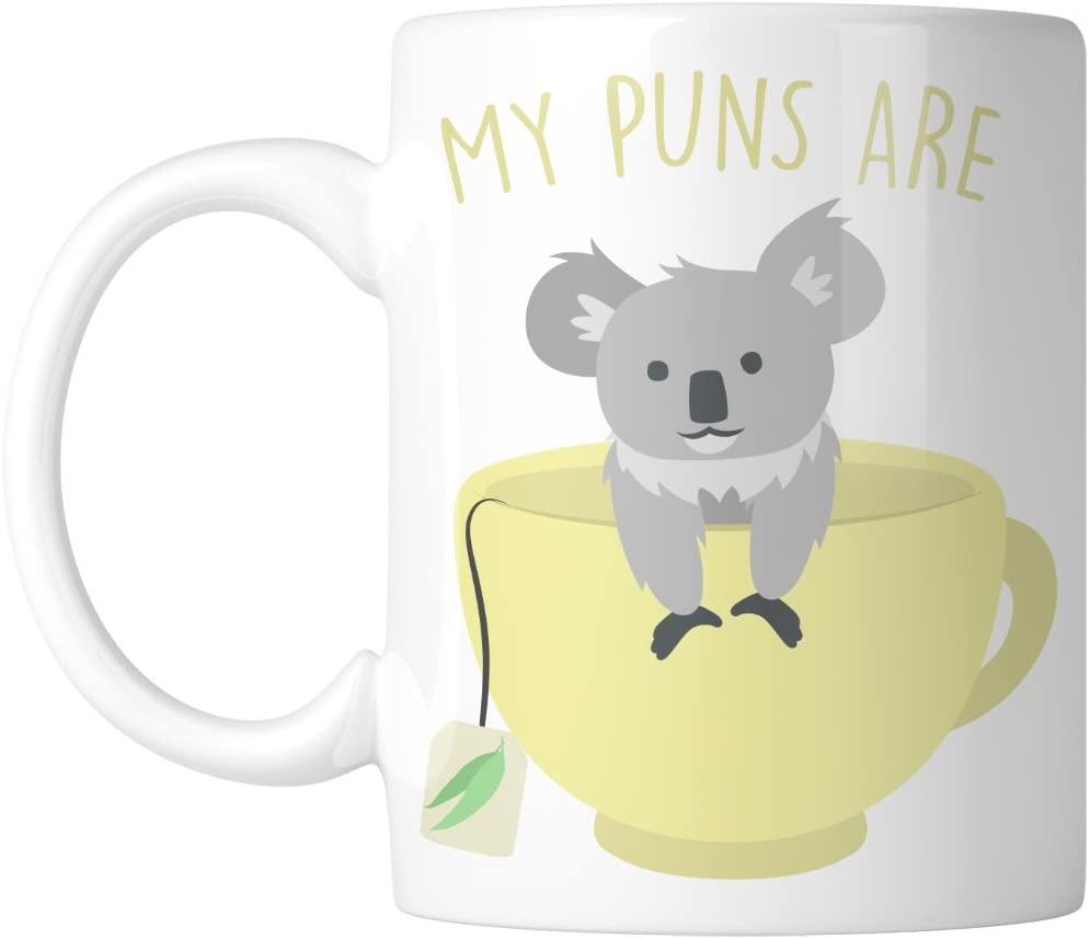 Koala Tea pun coffee mug