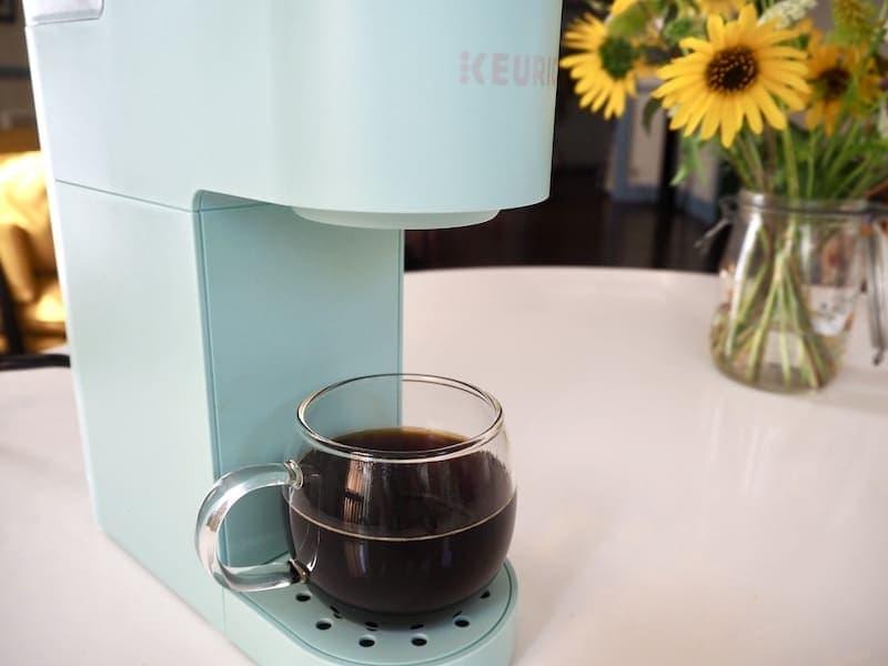 Keurig Mini brewed coffee