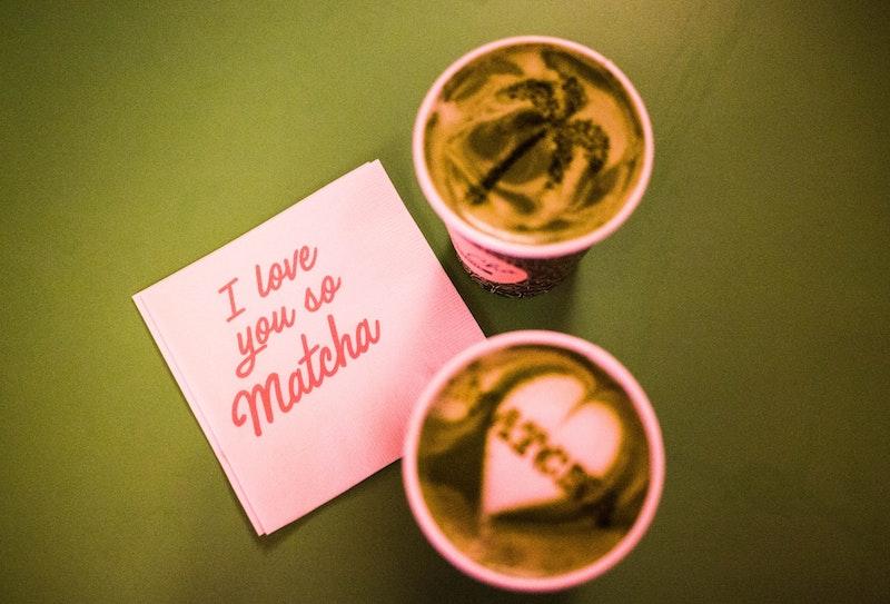 Matcha coffee pun