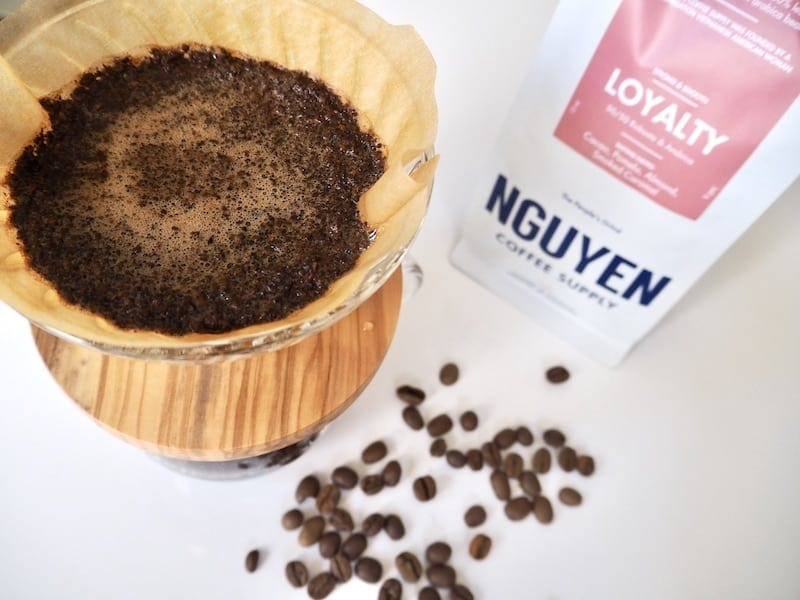 Nguyen Coffee Supply brewing with Hario V60