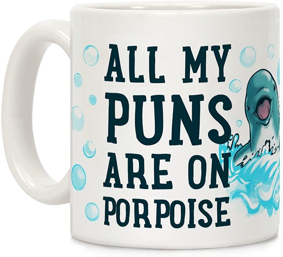 On Porpoise pun coffee mug