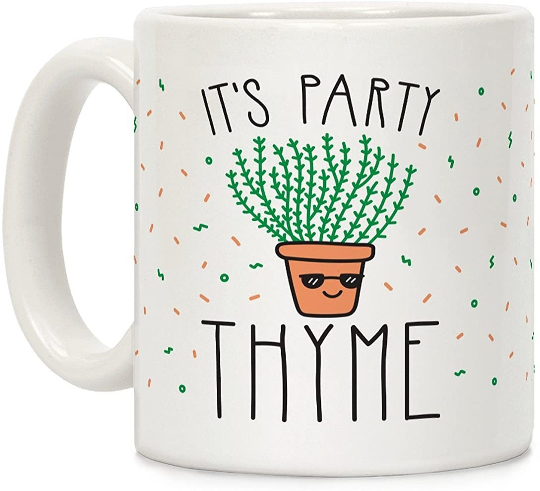 Party Thyme punny coffee mug