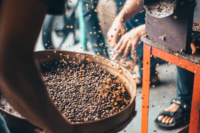 coffee roasting chaff