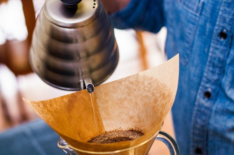 pouring water over coffee grounds_patrick t power_shutterstock