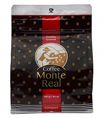 1Monte Real Gourmet Arabica Premium Ground Roasted Dominican Coffee