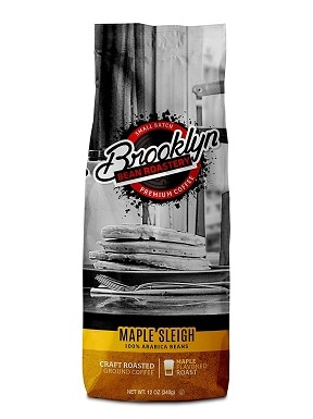 6Brooklyn Beans Maple Sleigh 100% Arabica Craft Roasted Ground Coffee