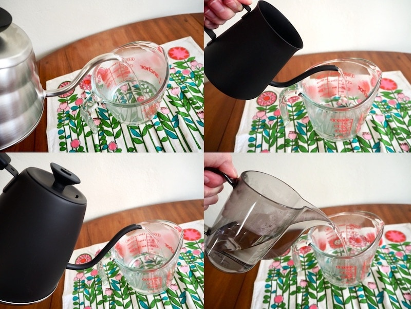Hario kettle pouring water