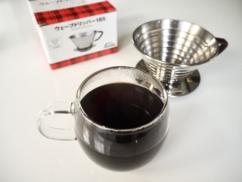 Kalita Wave brewed coffee
