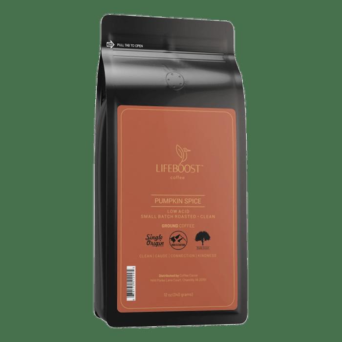 Lifeboost pumpkin spice fall coffee