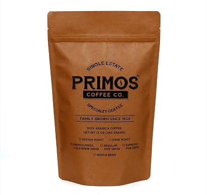 Primos Coffee Co Coarsely Ground Specialty Coffee