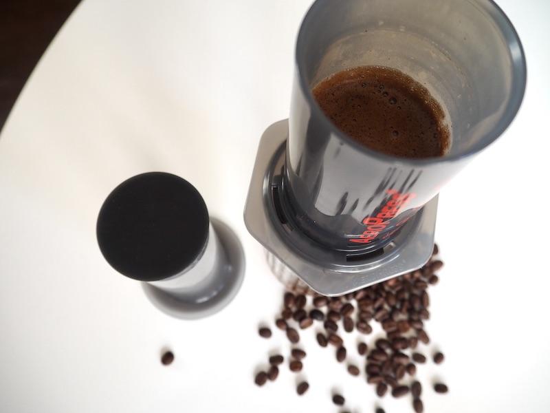 brew using AeroPress